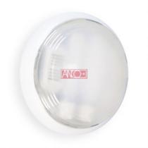 Mennyezeti lámpa 2xG23 (2x9W) foglalattal, fehér, IP44 kerek 255x95mm, 12OT452