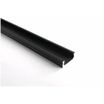 Aluprofil falon kívüli 11mm ledszalaghoz, fekete 2m/db AAP-NBL-2M