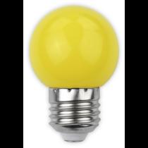 Led E27 1W kisgömb 30lm sárga ABDLG45-1W-Y