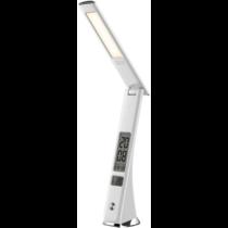 Asztali lámpa fehér 7W 450lm 5000K , bőrhatású, naptár funkcióval ABLDL-BLC-7W-WH