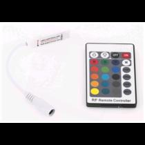 RGB távirányító szett, ledszalaghoz, rádiófrekvenciás 72W 5-24V