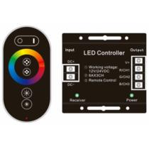 RGB távirányító szett + ledszalag vezérlőegység RGB-s szalagokhoz, rádiós,  12VDC / 24VDC 216WABLS12V6TKRGB-216W-RFC