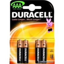 Elem Duracell mini ceruza AAA LR03 1,5V Power (4db/csomag)