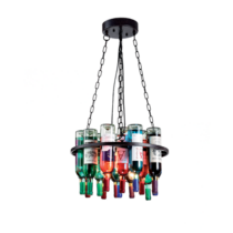 """""""Mennyezeti csillár 5xE27 IP20 üveg, átmérő:600mm """"""""Bottles"""""""" 955BOTTLES5"""""""