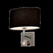 Tomy oldalfali lámpa 1XE27 + 1W LED 4000K sötét szürke 955TOMY1WLED