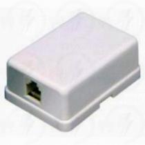 Számítógépcsatlakozó aljzat dupla öntapadós 2xRJ45 UTP 05397