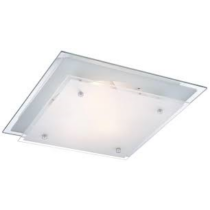 Mennyezeti lámpa 2xE27 foglalattal, szögeletes 335x335x85mm, 48168-2
