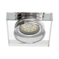 LED Spot MR16 GU5.3 12V fényforrásokhoz IP20 átlátszó üveg, szögletes, 90x90x20mm 22112 Kanlux
