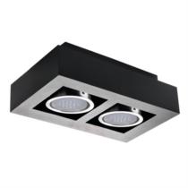 Mennyezeti lámpa, szögletes 2xGU10, fekete színben STOBI ES 250-B 26838