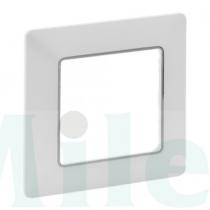 Valena Life keret 1-es fehér/króm vízszintes és függőleges műanyag 754031 LEGRAND