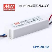 Tápegység 12VDC 20W 1,67A LPV-20-12 90-264VAC 162,5x42,5x32mm Meanwel
