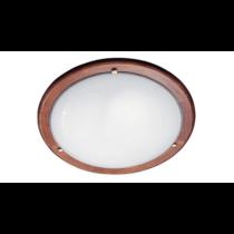 Ufo menyezeti lámpatest 2xE27, max.: 2x60W, d=380mm tölgy színű kerettel RÁBALUX 5427