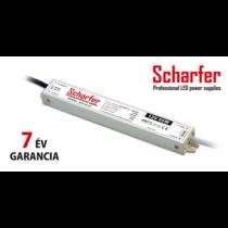 Tápegység 12VDC 60W 5A 185-250VAC 200x30x21mm IP67 SCH-60-12 Scharfer