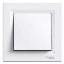 Asfora 107 kereszt kapcsoló kerettel fehér EPH0500121