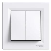 Asfora 106+6 dupla váltó kapcsoló kerettel fehér EPH0600121