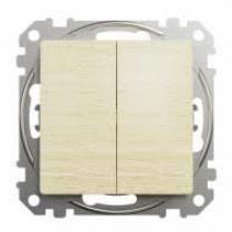 Sedna 105 kapcsoló nyír színű fedlappal, rugós bekötéssel IP20 (új) SDD180105
