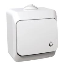Cedar Plus N101 nyomógomb csengőjellel IP44 fehér WDE000512