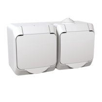 Cedar Plus 162/2 dupla dugalj IP44 fehér WDE000523
