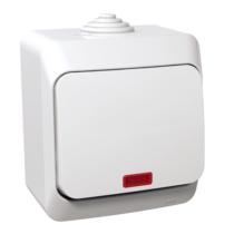 Cedar Plus 106 váltó kapcsoló jelzőfénnyel IP44 fehér WDE000561
