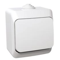 Cedar Plus 107 kereszt kapcsoló IP44 fehér WDE000570