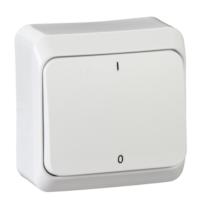 PRIMA 102 kétpólusú kapcsoló IP20 fehér WDE001020