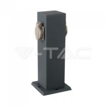 Kültéri energiaoszlop, rozsdamentes,  400mm magas, acél, 2XHT dugalj IP44 8820