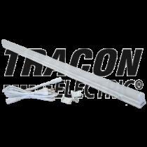 Bútorvilágító 5W T5 led, 400lm, 4500K, 30cm hosszú, kapcsolóval, fehér LBV5NW Tracon
