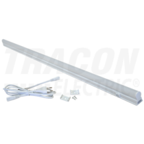 Bútorvilágító 5W T5 led, 400lm, 3000K, 30cm hosszú, kapcsolóval, fehér LBV5WW Tracon