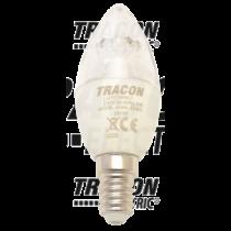 Led E14 6W gyertya dimmerelhető (fényerőszabályozható) 4000K 240° 470lm LGYD6NWO Tracon