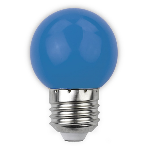 Led E27 1W kisgömb 30lm kék ABDLG45-1W-B