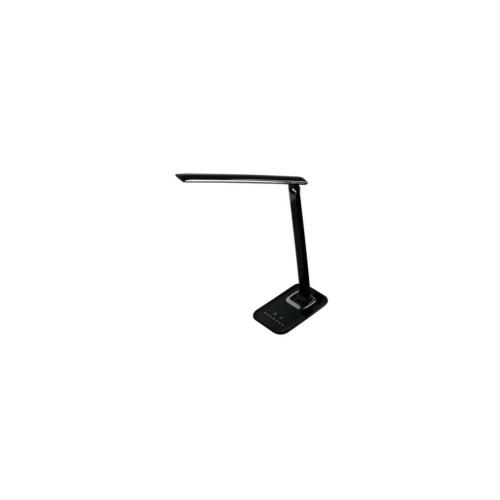 Asztali lámpa, szabályozható színhőmérséklet, 840lm 12W fekete 5 fokozat 41104FK Clearled