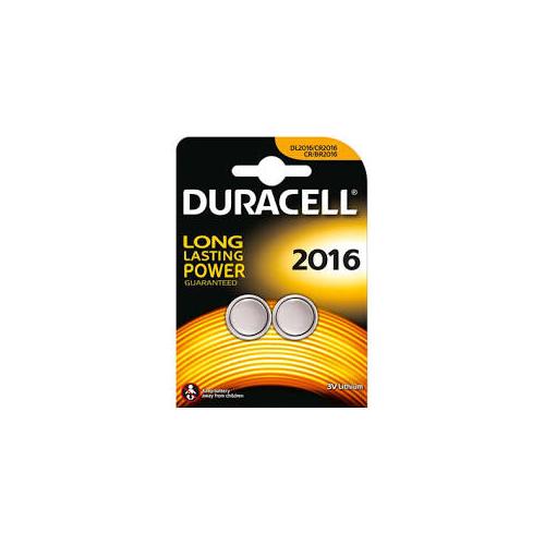 CR2016 gombelem 3V (2db/csom) Duracel