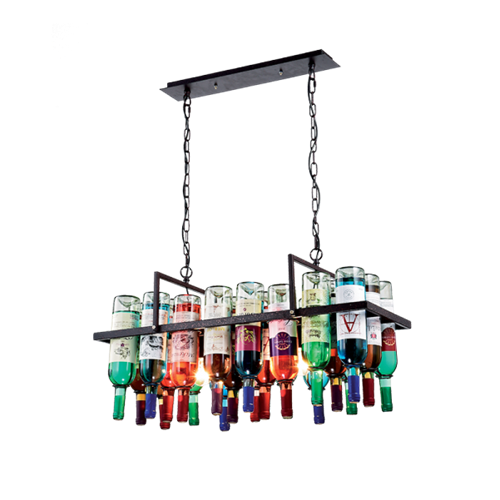 """""""Mennyezeti csillár 2xE27 IP20 üveg, szélesség:780mm, magasság: 300mm """"""""Bottles"""""""" 955BOTTLES2"""""""