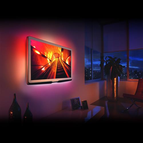 Led szalag szett RGB TV-hez, 4x2 x 30 cm, 2 x 50 cm, + infrás szabályzó 5V USB csatlakozó 55850A