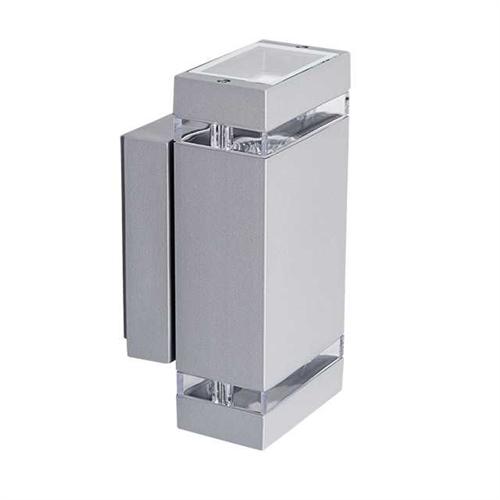 Oldalfali lámpa szürke, 2xGU10 foglalattal 230VAC IP44 22442 ZEW EL-235J-GR  Kanlux