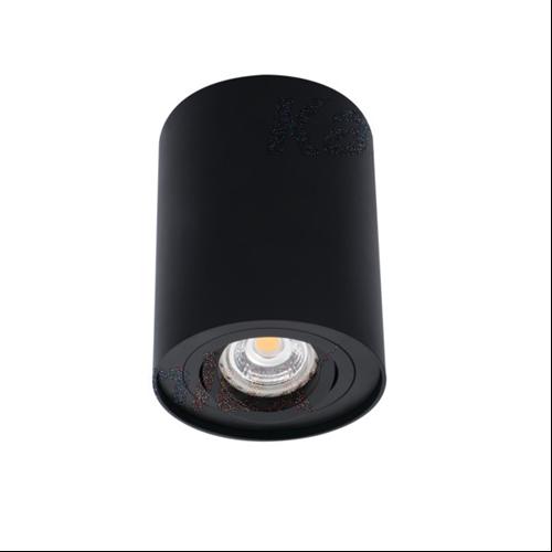 Mennyezeti lámpa matt fekete, 1xGU10 foglalattal IP20 BORD DLP-50-B 22552