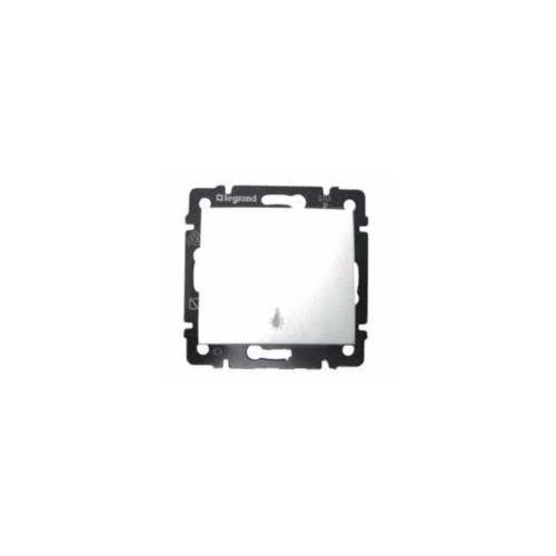 Valena N101 nyomó kapcsoló lámpajellel. fehér 774412
