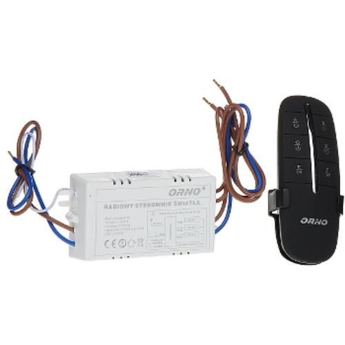 Rádiófrekvenciás kapcsoló, 3-csatornás, késleltett kikapcsolási funkció, 230VAC, max.: 1000W, hatótáv 30m, GB-406