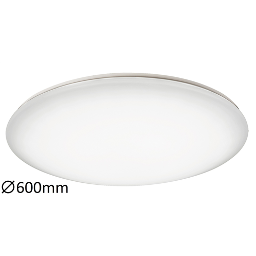 Mennyezeti lámpa LED 100W, 6600lm, 2700K-6500K, szblyozható kerek, slim,120°, átm.:600mm, Ollie 2638  Rábalux