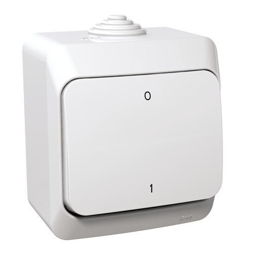 Cedar Plus 102 kétpólusú kapcsoló IP44 fehér WDE000520