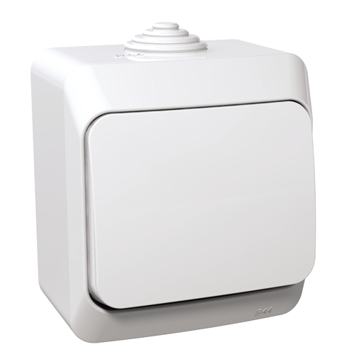 Cedar Plus 106 váltó kapcsoló IP44 fehér WDE000560