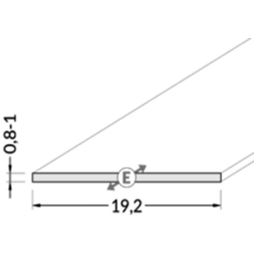 Aluprofil fedél opál 12mm-es becsúsztatós, opál, A2040038