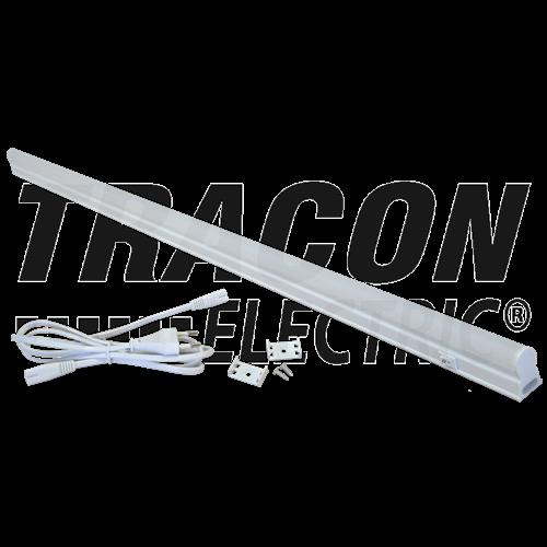 Bútorvilágító 20W T5 led, 1800lm, 4500K, 120cm hosszú, kapcsolóval, fehér LBV20NW Tracon