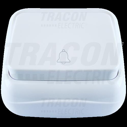 Tracon FK. N101 egypólusú nyomógomb, komplett, fehér IP20 TTK-04B