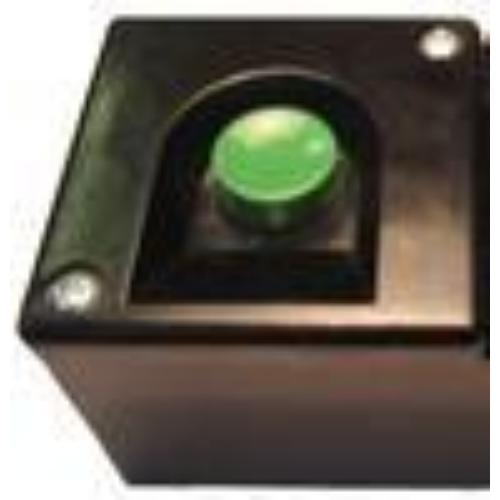 BKV-MT tokozott nyomógomb Zöld
